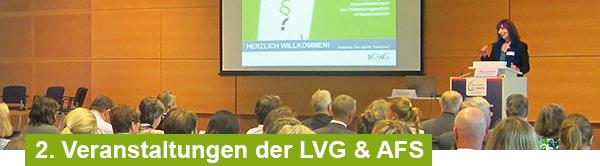 Veranstaltungen der LVG & AFS